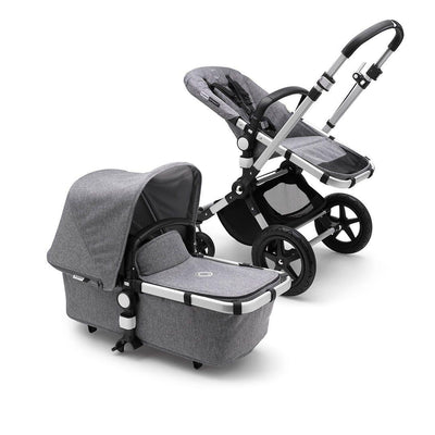 Bugaboo Cameleon3Plus Complete Pushchair - Aluminium + Grey Melange-Strollers- Natural Baby Shower