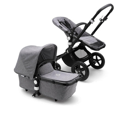 Bugaboo Cameleon3Plus Complete Pushchair - Black + Grey Melange-Strollers- Natural Baby Shower