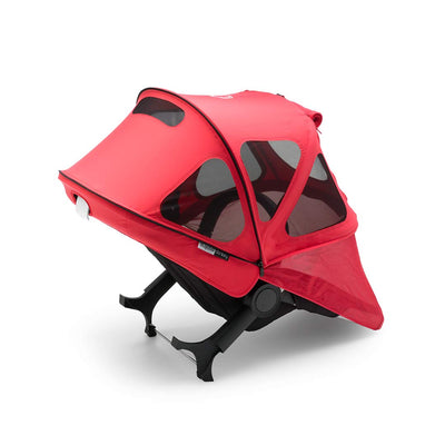 Bugaboo Donkey Breezy Sun Canopy - Neon Red-Sun Covers- Natural Baby Shower