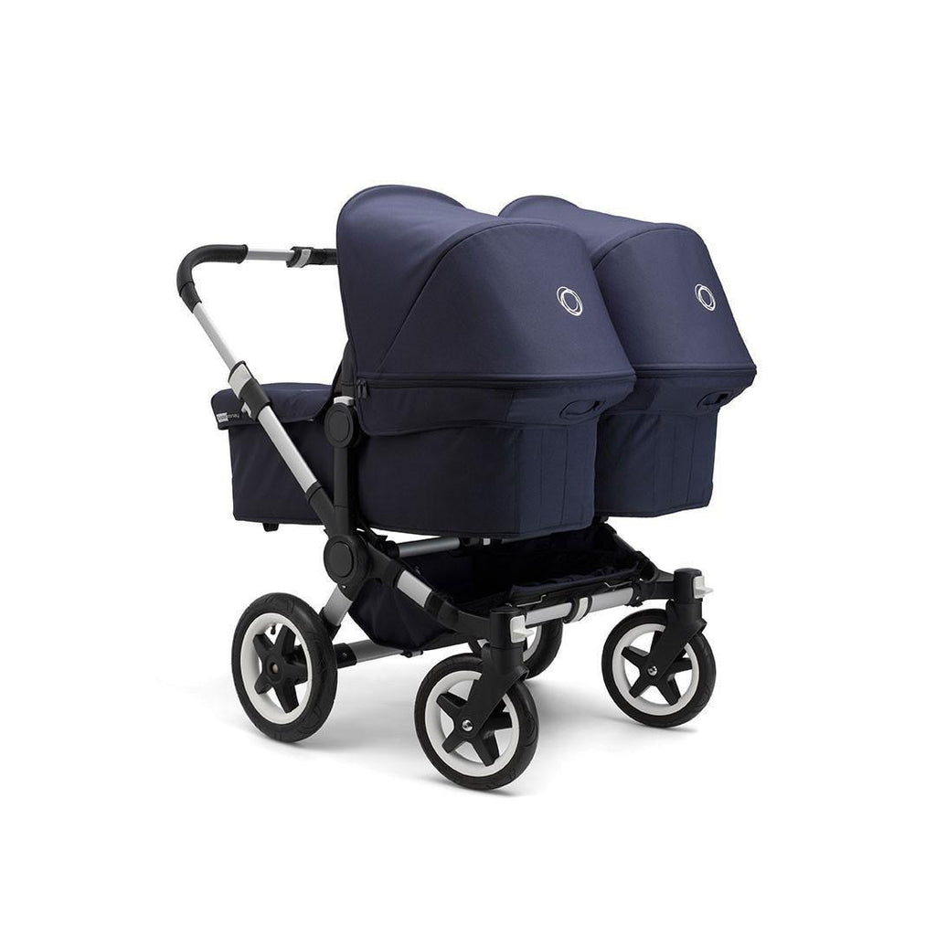 Bugaboo Donkey Classic+ Twin Pushchair - Aluminium with Navy
