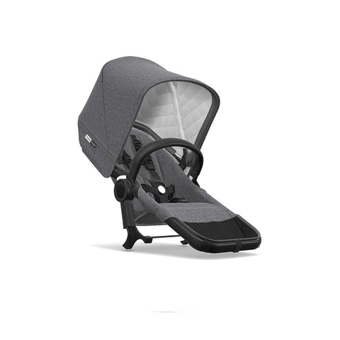 Bugaboo Donkey2 Classic+ Duo Extension - Black + Grey Melange-Stroller Frames- Natural Baby Shower