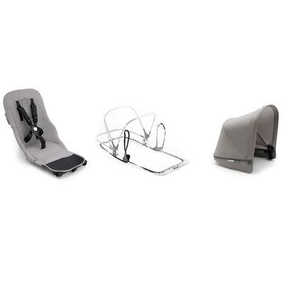 Bugaboo Donkey2 Duo Fabric Set - Mineral Light Grey-Colour Packs- Natural Baby Shower