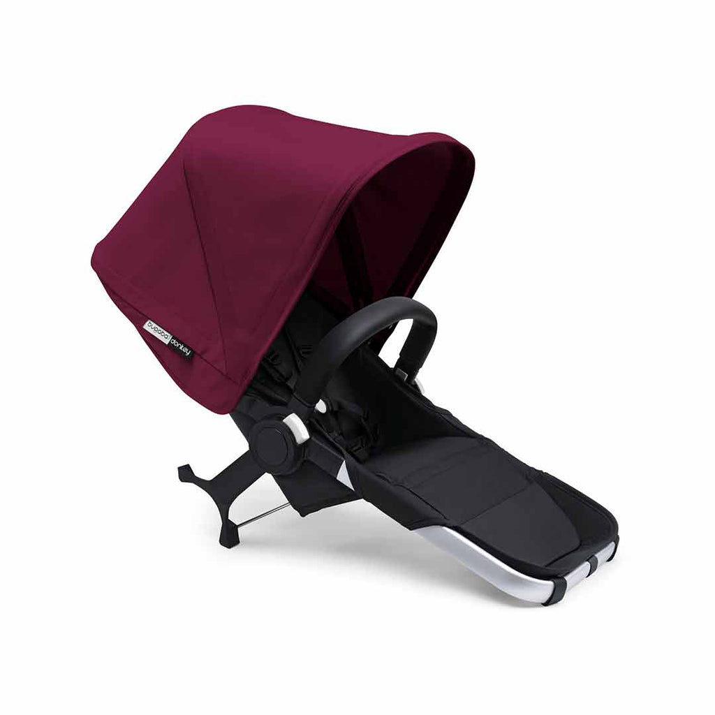 Bugaboo Donkey2 Duo Pushchair - Aluminium, Black + Ruby Red Canopy