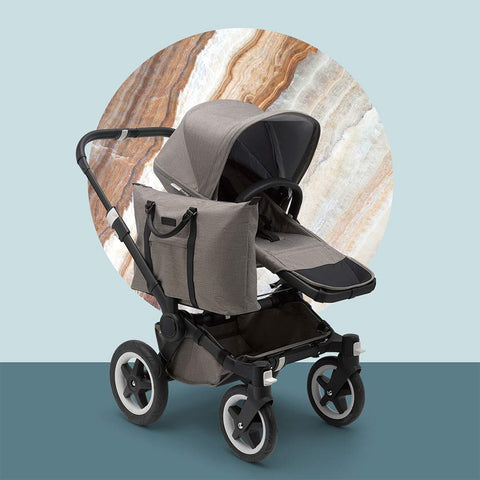 Bugaboo Donkey 2 - Black with Mineral Taupe-Strollers- Natural Baby Shower