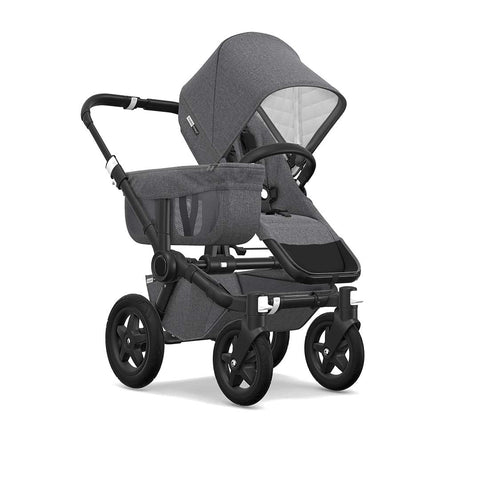 Bugaboo Donkey2 Classic+ Mono Pushchair - Black + Grey Melange-Strollers- Natural Baby Shower