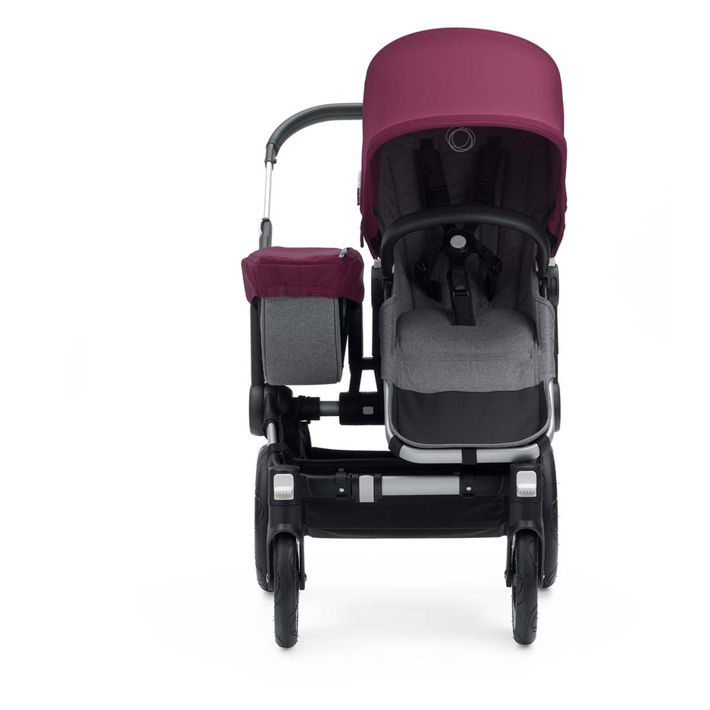 Bugaboo Donkey2 Mono Pushchair - Aluminium with Ruby Red Front