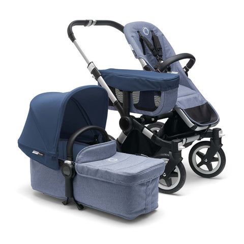 Bugaboo Donkey2 Mono Pushchair - Aluminium with Sky Blue