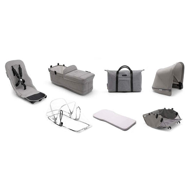 Bugaboo Donkey2 Style Set - Mineral Light Grey-Colour Packs- Natural Baby Shower