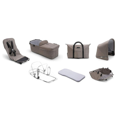 Bugaboo Donkey2 Style Set - Mineral Taupe-Colour Packs- Natural Baby Shower