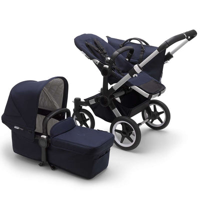 Bugaboo Donkey3 Classic Complete Pushchair - Aluminium + Dark Navy-Strollers-Mono- Natural Baby Shower