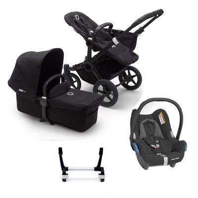 Bugaboo Donkey3 Complete CabrioFix Travel System - Black + Black-Travel Systems-Mono-No Base- Natural Baby Shower