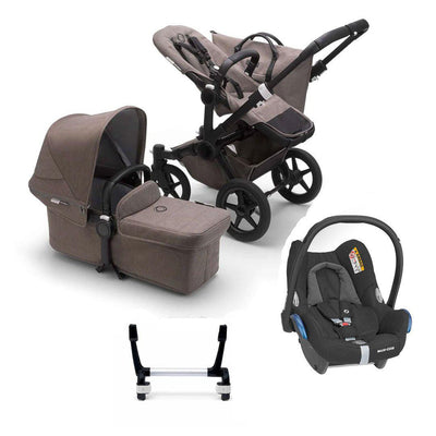 Bugaboo Donkey3 Complete CabrioFix Travel System - Black + Mineral Taupe-Travel Systems-Mono-No Base- Natural Baby Shower