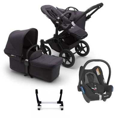 Bugaboo Donkey3 Complete CabrioFix Travel System - Black + Washed Black-Travel Systems-Mono-No Base- Natural Baby Shower