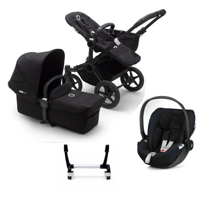 Bugaboo Donkey3 Complete Cloud Z Travel System - Black + Black-Travel Systems-Mono-No Base- Natural Baby Shower