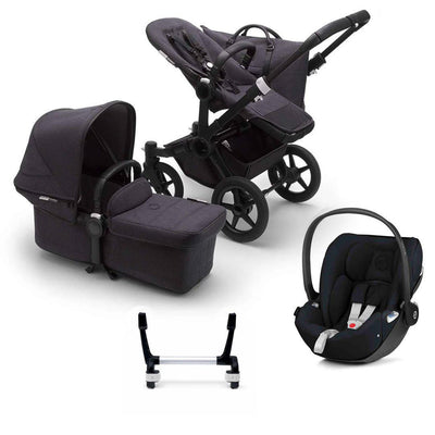 Bugaboo Donkey3 Complete Cloud Z Travel System - Black + Washed Black-Travel Systems-Mono-No Base- Natural Baby Shower