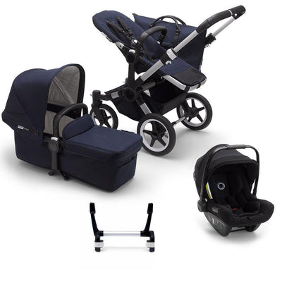 Bugaboo Donkey3 Complete Turtle Travel System - Aluminium + Dark Navy-Travel Systems-Mono-No Base- Natural Baby Shower
