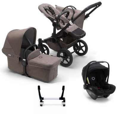 Bugaboo Donkey3 Complete Turtle Travel System - Black + Mineral Taupe-Travel Systems-Mono-No Base- Natural Baby Shower