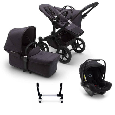 Bugaboo Donkey3 Complete Turtle Travel System - Black + Washed Black-Travel Systems-Mono-No Base- Natural Baby Shower