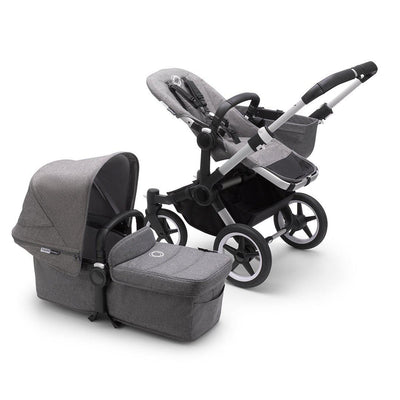 Bugaboo Donkey3 Mono Complete Pushchair - Aluminium + Grey Melange-Strollers- Natural Baby Shower