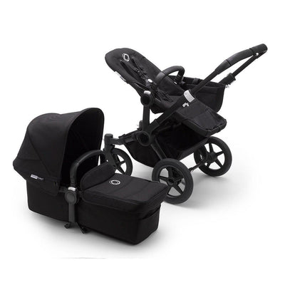 Bugaboo Donkey3 Complete Pushchair - Black + Black-Strollers-Mono- Natural Baby Shower