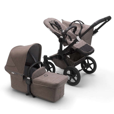 Bugaboo Donkey3 Complete Pushchair - Black + Mineral Taupe-Strollers-Mono- Natural Baby Shower
