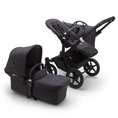 Bugaboo Donkey3 Complete Pushchair - Black + Washed Black-Strollers-Mono- Natural Baby Shower