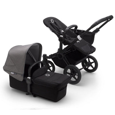 Bugaboo Donkey3 Pushchair - Grey Melange-Strollers-Mono-Black-Black- Natural Baby Shower
