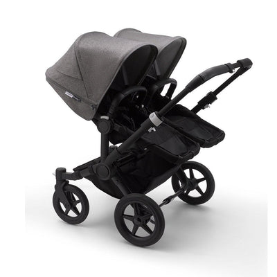 Bugaboo Donkey3 Pushchair - Grey Melange-Strollers-Twin-Black-Black- Natural Baby Shower