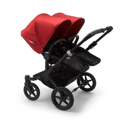 Bugaboo Donkey3 Pushchair - Red-Strollers-Twin-Black-Black- Natural Baby Shower