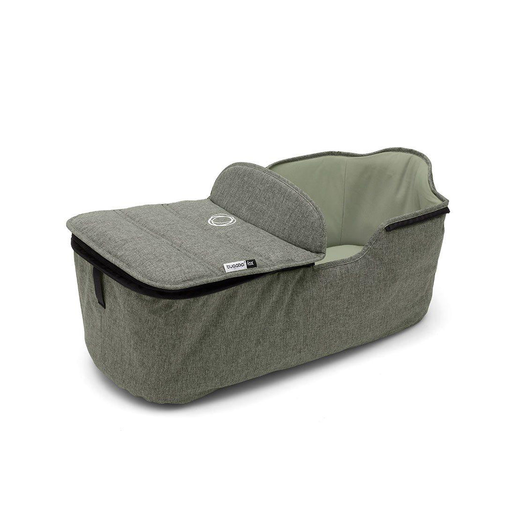 Bugaboo Fox Carrycot Tailored Fabric Set - Green Melange-Colour Packs- Natural Baby Shower