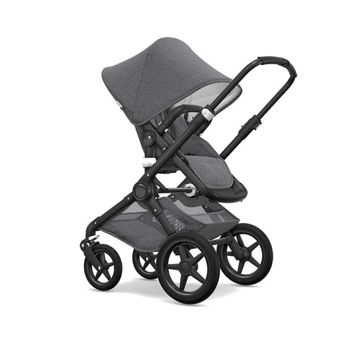 Bugaboo Fox Classic+ Pushchair - Black + Grey Melange 3