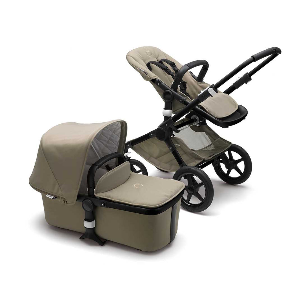 Bugaboo Fox Classic+ Pushchair - Black + Khaki-Strollers- Natural Baby Shower