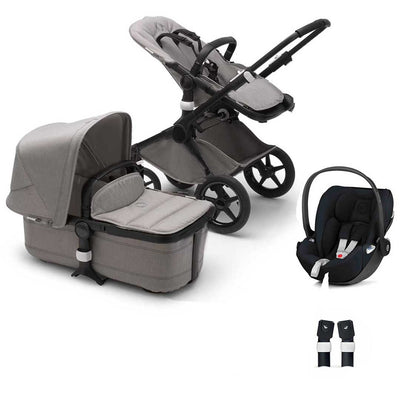 Bugaboo Fox Cloud Z Travel System - Mineral Light Grey-Travel Systems-No Base- Natural Baby Shower