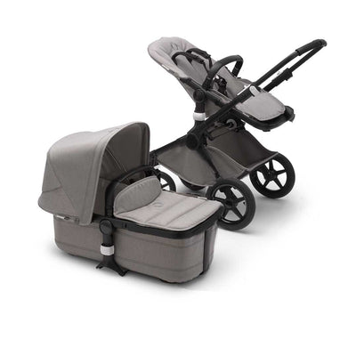 Bugaboo Fox Pushchair - Black + Mineral Light Grey-Strollers- Natural Baby Shower