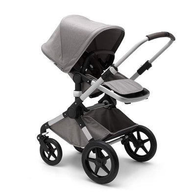 Bugaboo Fox Pushchair - Mineral Light Grey + Aluminium-Strollers- Natural Baby Shower
