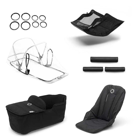 Bugaboo Fox Style Set - Black-Colour Packs- Natural Baby Shower