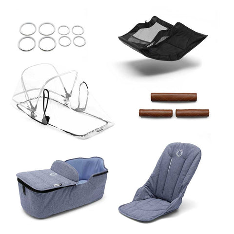 Bugaboo Fox Style Set - Blue Melange-Colour Packs- Natural Baby Shower