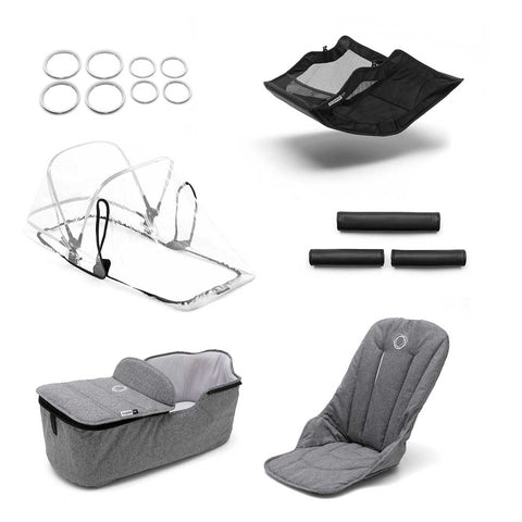 Bugaboo Fox Style Set - Grey Melange-Colour Packs- Natural Baby Shower