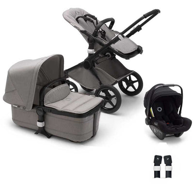 Bugaboo Fox Turtle Travel System - Mineral Light Grey-Travel Systems-No Base- Natural Baby Shower