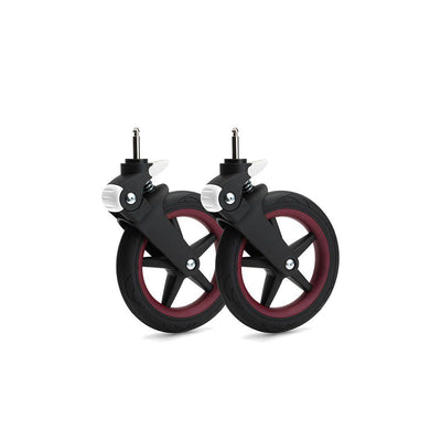 Bugaboo Fox Wheel Caps - Dark Red-Stroller Wheels- Natural Baby Shower