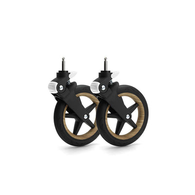 Bugaboo Fox Wheel Caps - Wood-Stroller Wheels- Natural Baby Shower