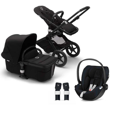 Bugaboo Fox2 Cloud Z Travel System - Black-Travel Systems-No Base- Natural Baby Shower