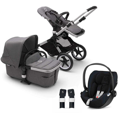 Bugaboo Fox2 Cloud Z Travel System - Grey Melange-Travel Systems-No Base- Natural Baby Shower