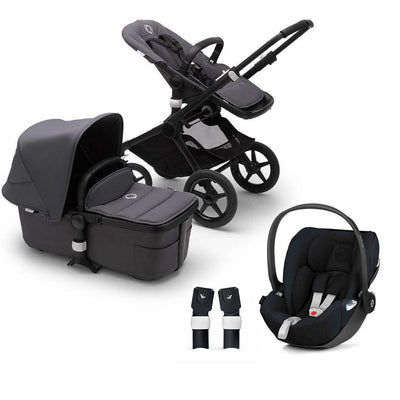 Bugaboo Fox2 Cloud Z Travel System - Steel Blue-Travel Systems-No Base- Natural Baby Shower