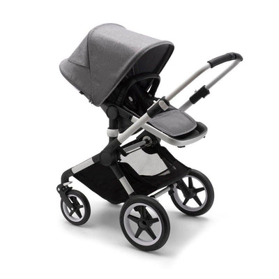 Bugaboo Fox2 Complete Pushchair - Aluminium + Grey Melange-Strollers- Natural Baby Shower