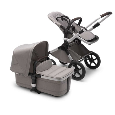 Bugaboo Fox2 Complete Pushchair - Aluminium + Mineral Light Grey-Strollers- Natural Baby Shower