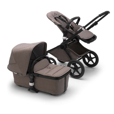 Bugaboo Fox2 Complete Pushchair - Black + Mineral Taupe-Strollers- Natural Baby Shower