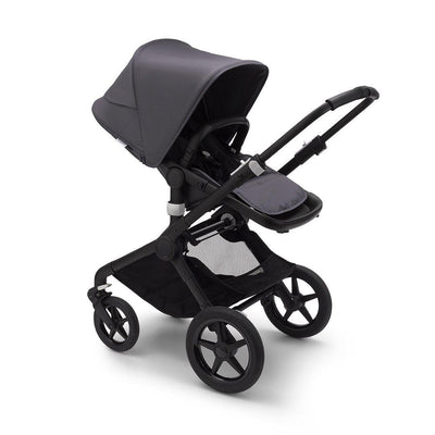 Bugaboo Fox2 Complete Pushchair - Black + Steel Blue-Strollers- Natural Baby Shower