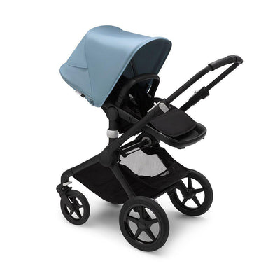 Bugaboo Fox2 Complete Pushchair - Black + Vapor Blue-Strollers- Natural Baby Shower