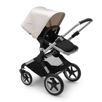 Bugaboo Fox2 Pushchair - Fresh White-Strollers-Aluminium-Black- Natural Baby Shower